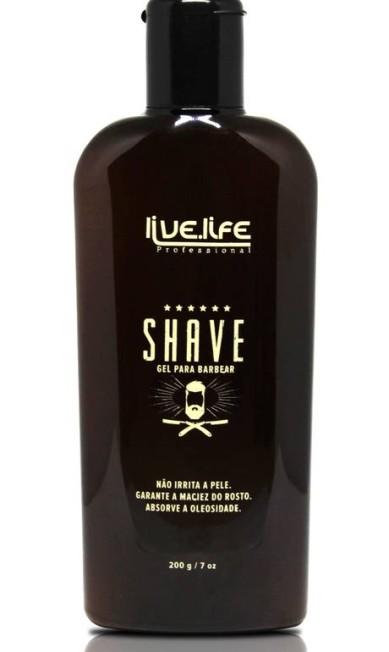 Gel para barba da Live.Life (www.livelife.com.br), R$ 29,80: tem Aloe Vera, ajuda no deslizar da lâmina e hidrata a pele do rosto Divulgação