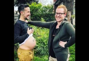 Trystan Reese engravidou de seu parceiro, Biff Chaplow Foto: Reprodução de internet