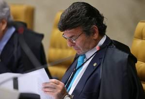 O ministro do STF Luiz Fux Foto: Jorge William / Agência O Globo