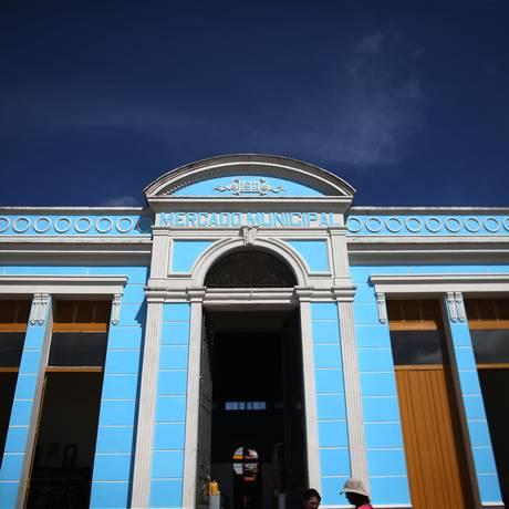 Fachada do Mercado Municipal de Bragança, no Pará, de estilo neoclássico e que abriga 14 boxes Foto: Roberto Castro / Ministério do Turismo/Divulgação