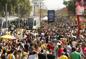 Boulevard Olímpico atraiu mais 4 milhões de visitantes durante os Jogos Olímpicos Foto: Gabriel de Paiva / Agência O Globo