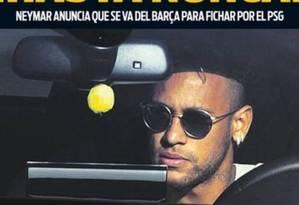 Diário 'Sport' detona saída de Neymar Foto: Reprodução
