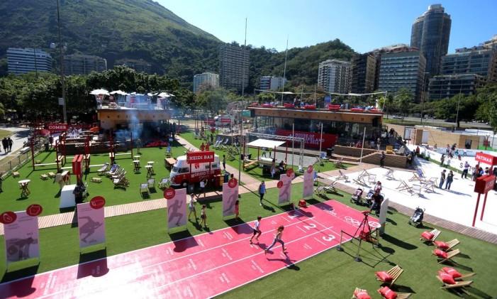 Casa da Suíça, na Lagoa, fez sucesso entre os cariocas durante a Olimpíada Foto: Fabiano Rocha / Agência O Globo