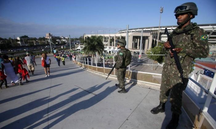 Tropas federais reforçaram segurança no Rio durante a Olimpíada Foto: Rafael Moraes / Agência O Globo