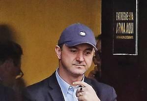 Joesley Batista deixa a sede da PF, após depoimento Foto: DIDA SAMPAIO / Agência O Globo