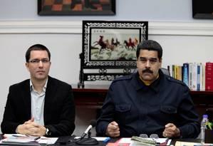 Presidente da Venezuela, Nicolás Maduro, fala no Palácio de Miraflores Foto: HANDOUT / REUTERS