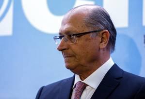 O governador de São Paulo Geraldo. Foto: Edilson Dantas / Agencia O Globo/ 29-5-2017 Foto: Edilson Dantas / Agência O Globo/ 29-5-2017