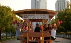 Nashville Pedal Tavern, no Tennessee, EUA Foto: Nashville Pedal Tavern / Divulgação