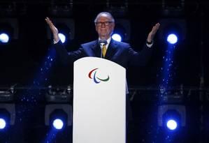 Carlos Arthur Nuzman durante a cerimônia de encerramento dos Jogos Paralímpicos Foto: RICARDO MORAES / Reuters