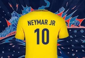 Neymar vai usar a camisa 10 no PSG Foto: Divulgação