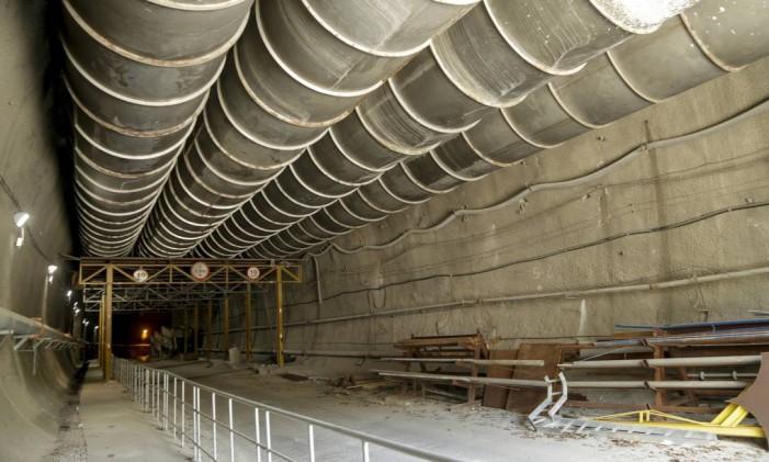 Previstas para serem concluídas antes dos Jogos Olímpicos, obras de metrô da Gávea estão paradas Foto: Gabriel de Paiva / Agência O Globo