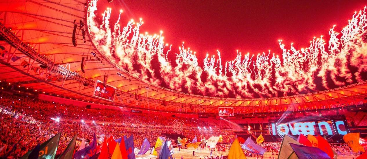 Cerimônia de encerramento da Paralimpíada do Rio: um ano depois dos Jogos, contas do comitê organizador ainda não estão fechadas Foto: Hermes de Paula / Agência O Globo