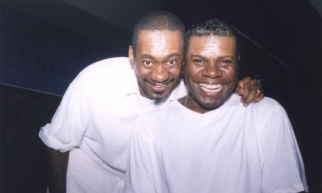 Luiz Melodia e Emílio Santiago. Os dois fizeram show juntos no Canecão em 14 de dezembro de 1999 Foto: Divulgação