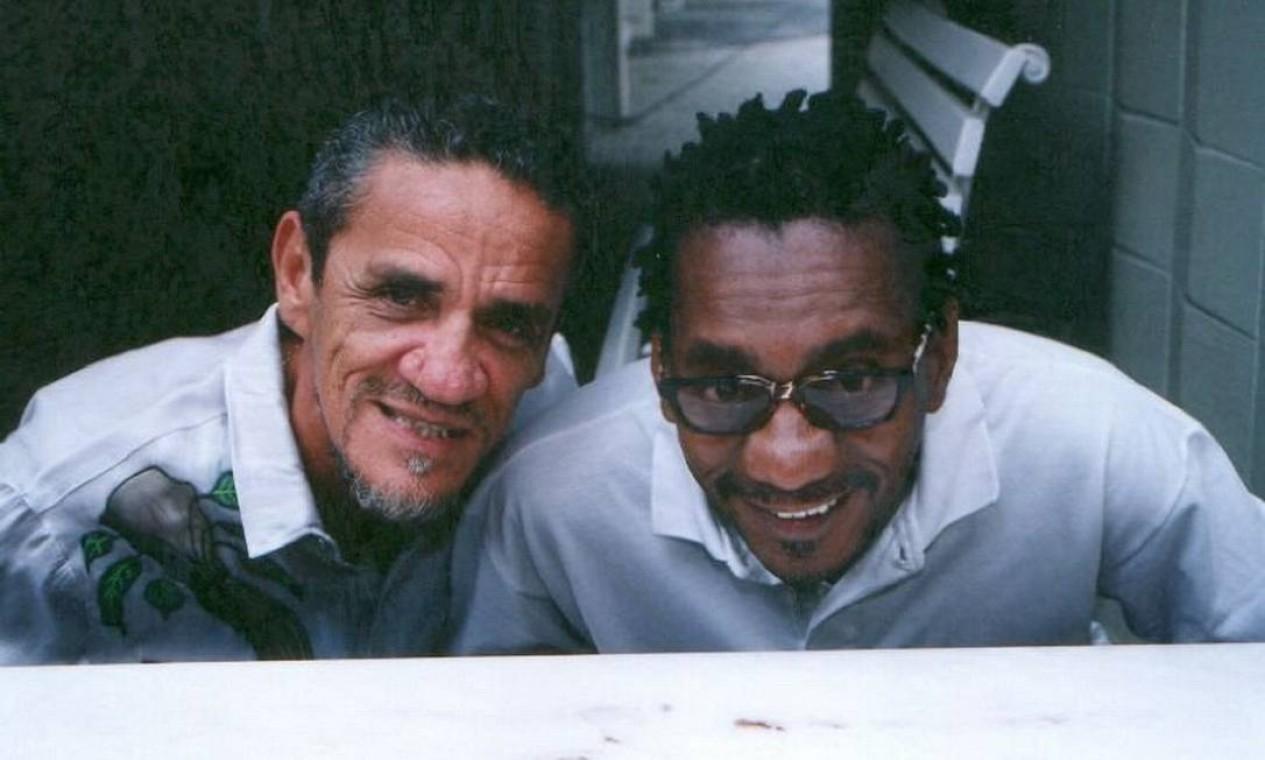 Zé Ramalho posa ao lado de Luiz Melodia em 15 de janeiro de 202 Foto: Divulgação