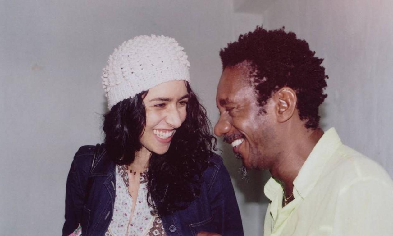 Mariza Monte e Luiz Melodia no Teatro Rival em 14 de abril de 2003 Foto: Elisa Ramos / Divulgação