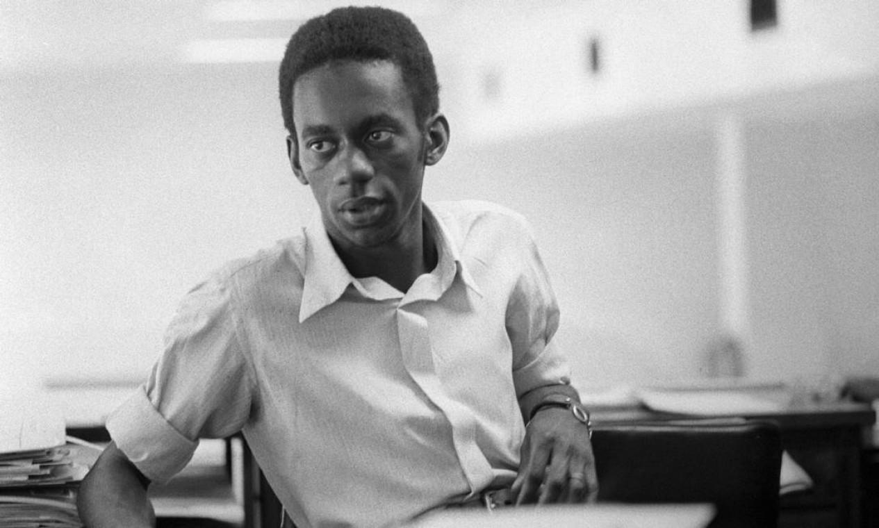 Luiz Melodia, aos 21 anos, em 1972 Foto: Arquivo / Agência O Globo