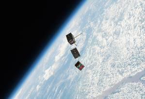 CubeSats lançados pela Estação Espacial Internacional Foto: NASA