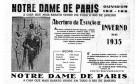 """Anos 30. Notre Dame de Paris, """"a casa que mais barato vende no Rio"""", anuncia coleção de inverno, incluindo peças de seda escritas em francês Foto: 04/05/1935 / Acervo O GLOBO"""
