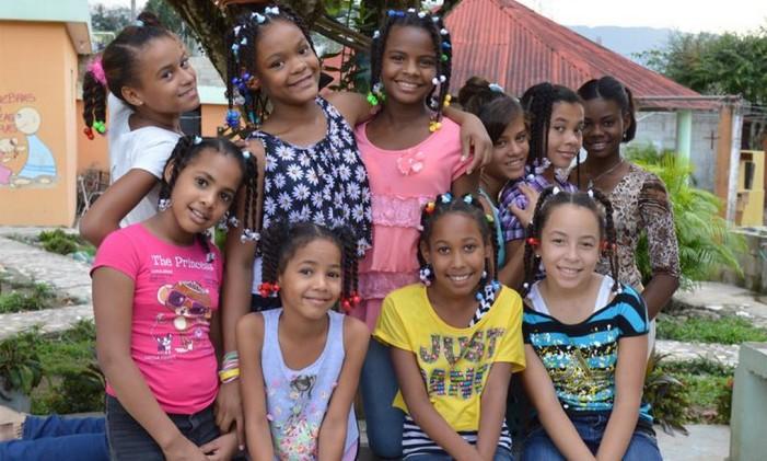 Meninas do abrigo María Madre de Dios, na República Dominicana Foto: AFS Intercultura Brasil / Divulgação