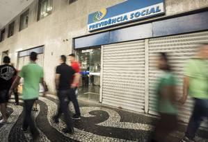 Fachada do posto do INSS na Presidente Vargas, no Rio Foto: Ana Branco