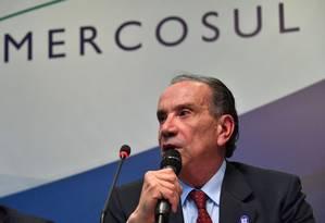 Ministro das Relações Exteriores, Aloysio Nunes Ferreira Foto: NELSON ALMEIDA / AFP