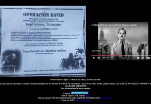 Site do poder eleitoral venezuelano foi atingido por ataque hacker Foto: Reprodução