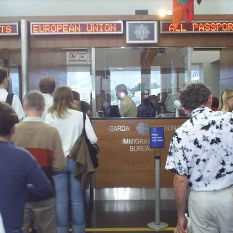 Fila de imigração no Aeroporto de Barajas, em Madri Foto: Divulgação