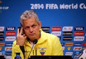 Na Copa de 2014, no Brasil, Rueda dirigiu o Equador Foto: Cezar Loureiro