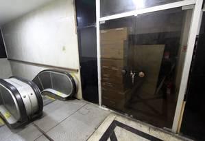 Sala sem uso em um dos prédios alugados pela Câmara no Centro do Rio Foto: Paulo Nicolella / Agência O Globo