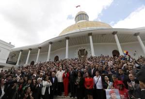 Assembleia Constituinte da Venezuela se reúne antes de cerimônia de posse em Caracas Foto: Ariana Cubillos / AP