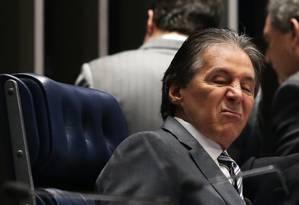 Eunício Oliveira durante sessão do Senado nesta terça-feira Foto: Ailton de Freitas / Agência O Globo