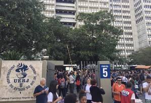Uerj atravessa crise sem precedentes Foto: Thiago Freitas / Agência O Globo