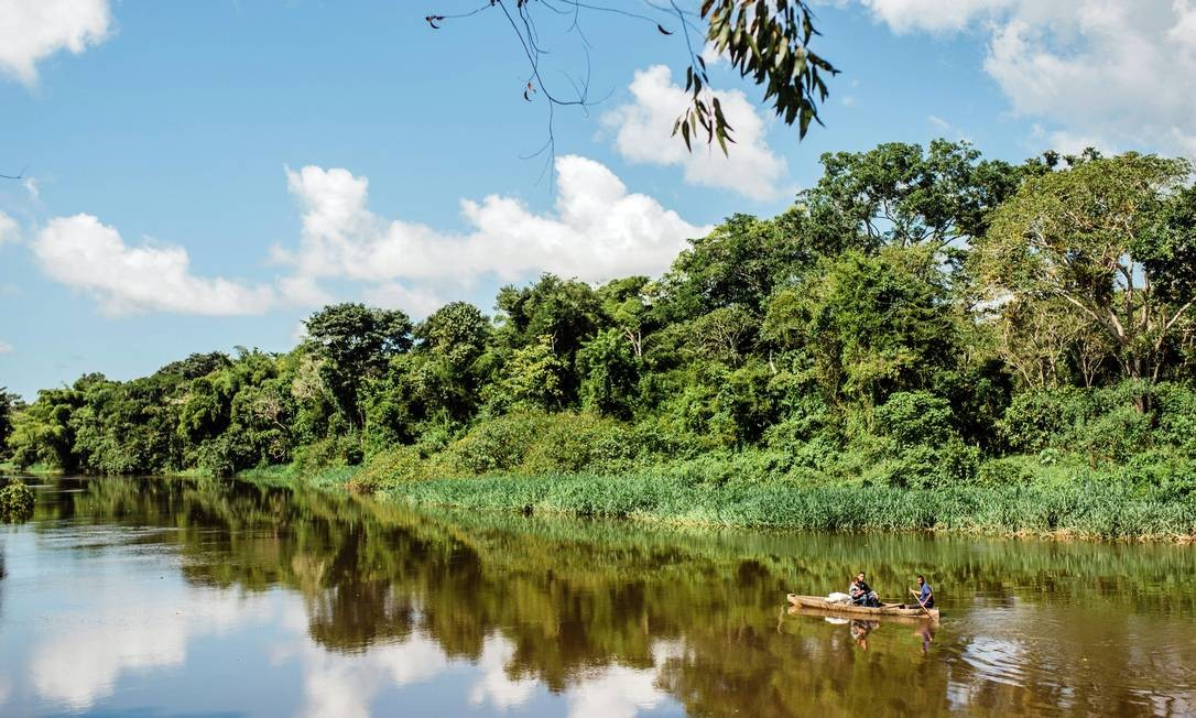 Rio Almada, que corta a fazenda Provisão, em Ilhéus Foto: AnaLee/Festival Internacional do Chocolate e Cacau/Divulgação