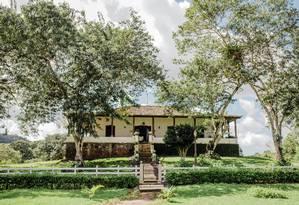 Casa sede da fazenda Provisão, que tem plantação de cacau e visita guiada Foto: Ana Lee