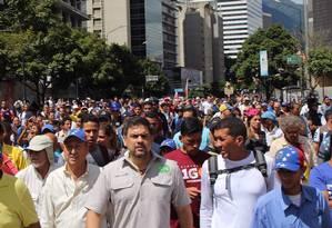 Prefeito Ocariz participa de protesto contra governo Maduro na Venezuela Foto: Reprodução/Twitter