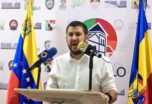 David Smolansky, prefeito do município de El Hatillo Foto: Reprodução/Twitter