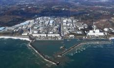 Imagem aérea mostra a usina nuclear de Fukushima, danificada por um tsunami em 2011 Foto: AP