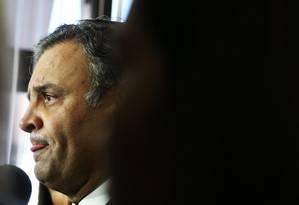 Senador Aécio Neves (PSDB-MG), em reunião da Executiva Nacional do PSDB Foto: Ailton de Freitas / O Globo