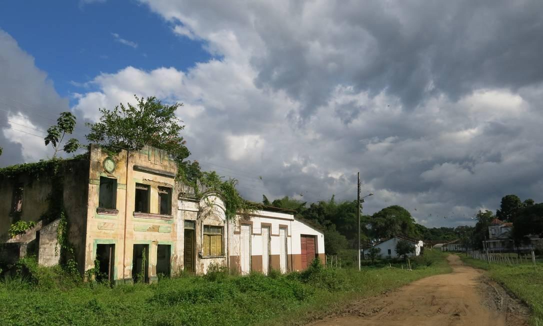 Ruínas no vilarejo de Rio do Braço, em Ilhéus. Local foi abandonado por fazendeiros depois que as plantações de cacau foram destruídas pela praga vassoura-de-bruxa Foto: Carolina Mazzi