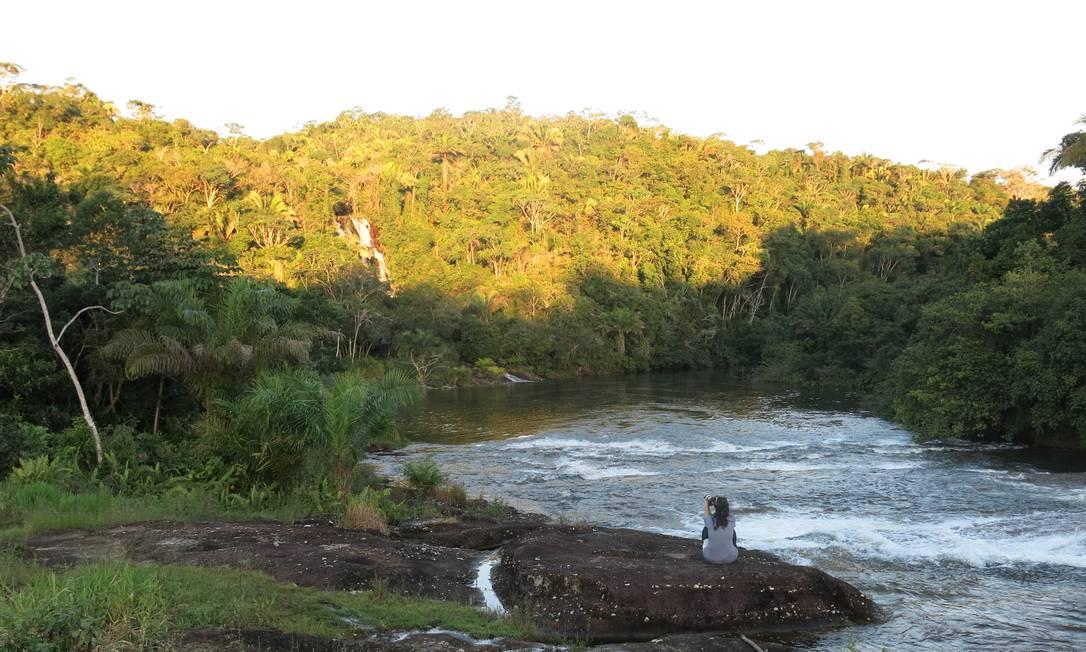 Cachoeira na Lagoa Encantada, que fica a cerca de 34km do centro de Ilhéus Carolina Mazzi