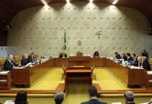 Plenário do Supremo Tribunal Federal Foto: Carlos Moura/STF