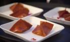 O raviole de goiabada vegana da chef Lidiane Barbosa Foto: Adriana Lorete / Agência O Globo