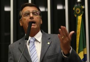O deputado Jair Bolsonaro em fevereiro Foto: Ailton de Freitas / Agência O Globo