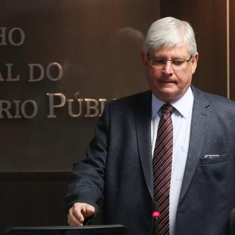 O procurador-geral da República, Rodrigo Janot, durante reunião do Conselho Nacional do Ministério Público (CNMP) Foto: Givaldo Barbosa / Agência O Globo / 26-7-17