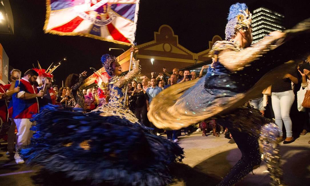 A escola de samba União da Ilha do Governador lançou seu enredo para o Carnaval 2018, 'Brasil Bom de Boca', no palco do Rio Gastronomia Monica Imbuzeiro / Agência O Globo