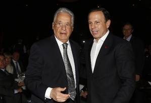 O ex-presidente Fernando Henrique Cardoso e o prefeito de São Paulo, João Doria Foto: Edilson Dantas / Agência O Globo / 10-8-17
