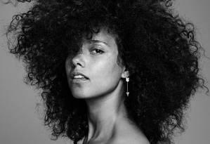 A cantora Alicia Keys Foto: Divulgação