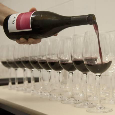 A prova de vinhos contou com rótulos premiados Foto: Adriana Lorete / Agência O Globo