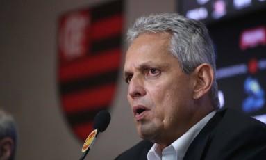 Reinaldo Rueda foi apresentado como novo treinador do Flamengo nesta segunda-feira Foto: Gilvan de Souza/Flamengo