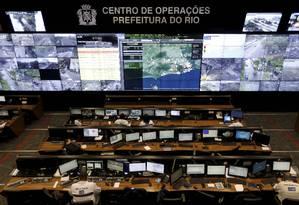 O Centro de Operações Rio (COR), da prefeitura do Rio Foto: Domingos Peixoto / Agência O Globo